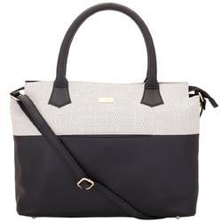 Yellow Punched Look Black & White Shoulder Bag
