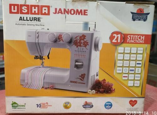 Sewing Machine Usha Janome Allure Capacity 21 Stitch Functions Rs 12000 Piece Id 19917309162