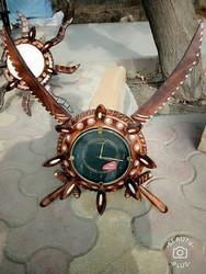 Brown Analog Decorative Wooden Wall Clock, For Home