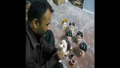 Fiberglass Gauri Idol, For Interior Decor
