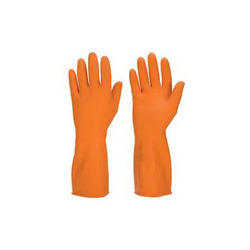 Orange Safety Hand Gloves