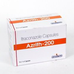 AZRITH-200 Itraconazole 200 Mg Capsules, Packaging Type: Blister