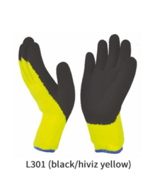 Hi-Viz Grip Crinkled Latex Coated Gloves
