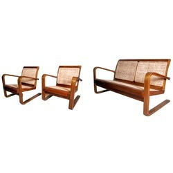 Brown Art Deco Sofa Set