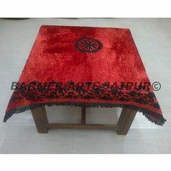 Designer Table Cover Velvet Hand Embroidery