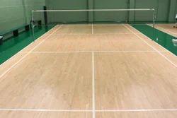 Colored Wooden Badminton Court Flooring