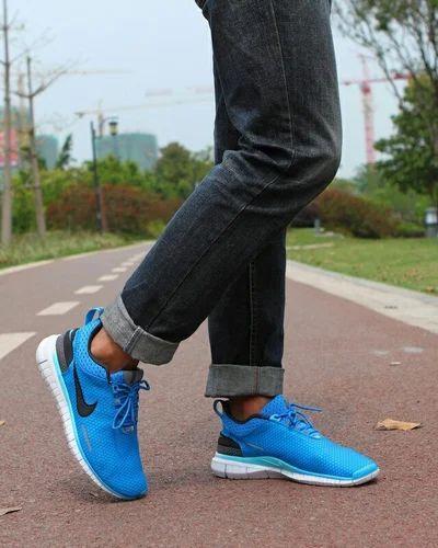Blue Men Nike Running Shoes, Size: 6-10