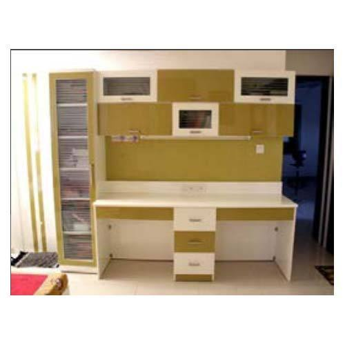 Study Table With Wall Unit Shelf