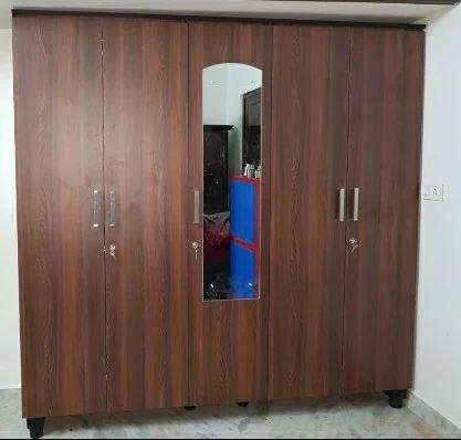 Wooden Wardrobe 5-door