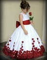 Rose Petal Pattern Flower Girl Dress