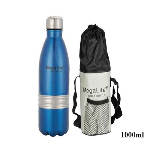 1ff7c252b09 Megalite Double Walled 18 8 Stainless Steel Cola Bottle 1000ml at Rs ...