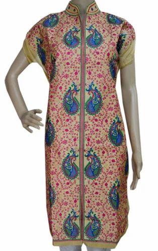 c9926e6893 Silk Regular Kashmiri Phulkari Work Kurtis, Rs 800 /peices | ID ...