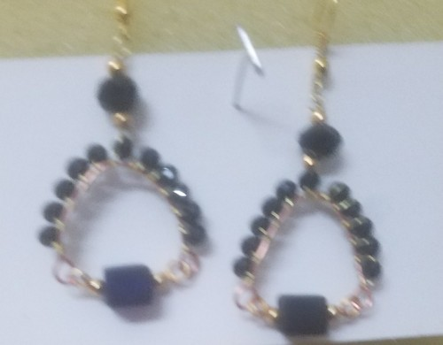 LCC Black & golden color Handmade Jewelry