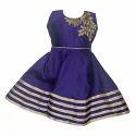 Girls Purple Kids Churidar Suit