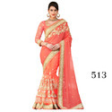 Net Party Wear Indian Sari