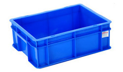 Rectangular Blue Plastic Crates