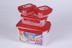Fair Food Set of 4 Airtight and Leak Proof Container