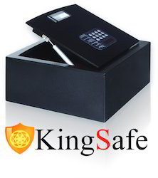 Black, Gray And Ivory KingSafe Top Open Small Size Safe Locker