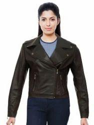 Ladies Pure Leather Jacket NRB4