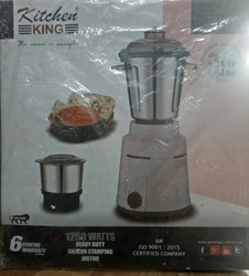 White And Metallic Kitchen King Commercial Mixer Grinder, More Than 1000 W