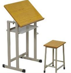 Iron & Wood Student Drawing Table