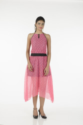 Pink Ladies Designer Dress