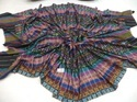 Hand Woven Stripes With Hand Needle Work Pashmina Shawl