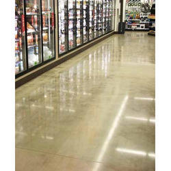 Liquid Dencifier Glossy Polished Concrete Flooring, Thickness: 5mm