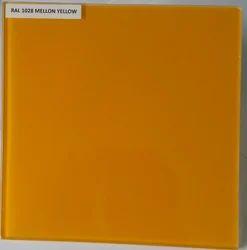 Plain Lacquered Mellon Yellow Glass