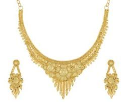 8ecf218e26be55 Nisa Pearls Gold Toned Necklace Set at Rs 799 /no | Gold Plated ...