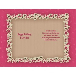 Love You Personalized Birthday Card