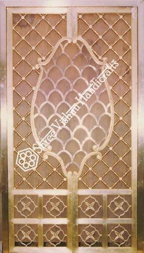 Brass Jaali Design Temple Door Rs 14500 Square Feet Shree Vishnu