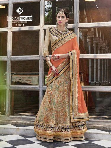a80af0a944 Chiffon Zardozi Work Lehenga Saree, Rs 2871 /piece, Indian Women ...