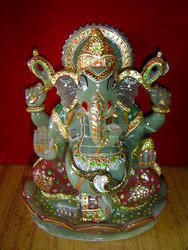 Semi Precious Stone Ganesh Statue