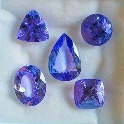 Blue Round Natural Tanzanite Stone, For Jewelry