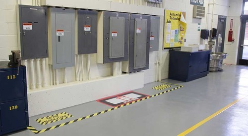Zebra Floor Marking Tape फर्श का मार्किंग टेप फ्लोर