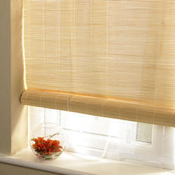 Yellow Bamboo Horizontal Blinds