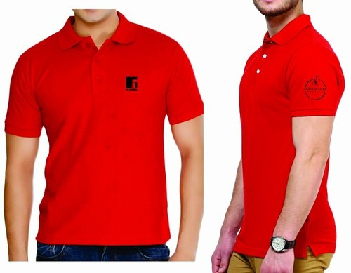 bc97823410b Men  s Cotton Plain Polo T Shirt with Logo Embroidery