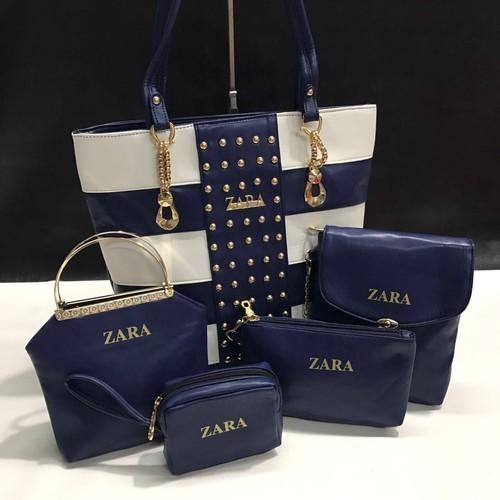 7a1ccb58 Rexine Blue Zara Hand Bags, Packaging Type: Carton, Rs 800 /piece ...