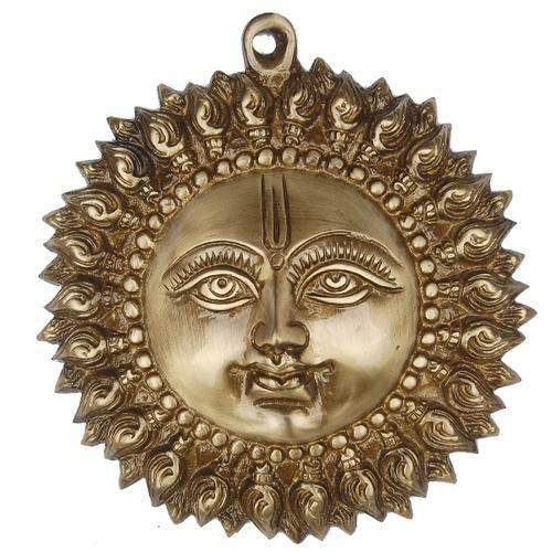 Antique Br Decorative Sun Face Wall Hanging Sculpture By Aakrati For Interior Decor