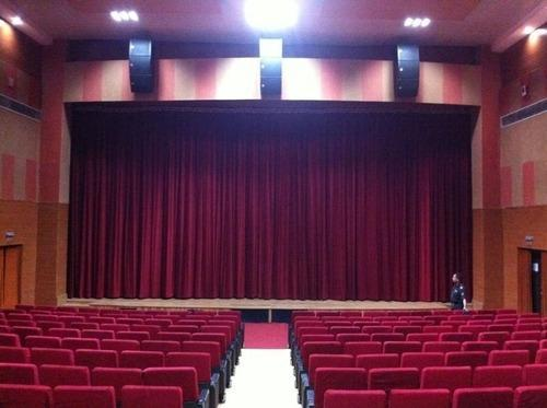 Motorized theater curtain system curtain menzilperde net for Auditorium stage decoration