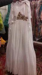 White Printed Wedding Dress
