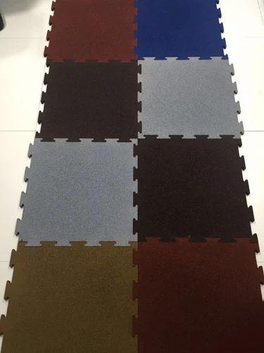 Interlocking Rubber Flooring Tiles At Rs 85 Square Feets Shital