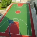 Asian Flooring Red And Green Synthetic Basketball Flooring