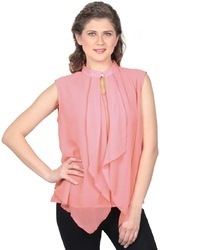 Casual Plain Georgette Top