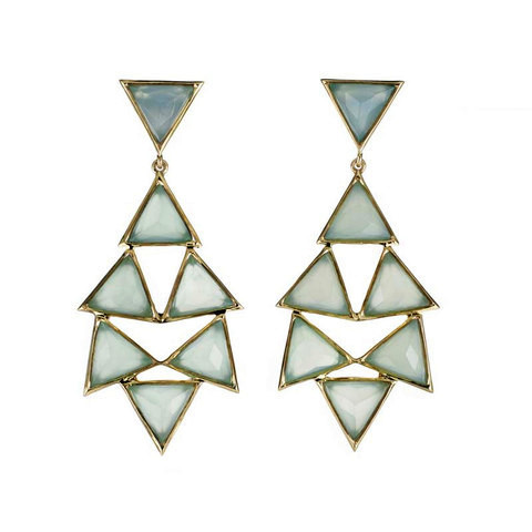 Aqua Chalcedony triangles