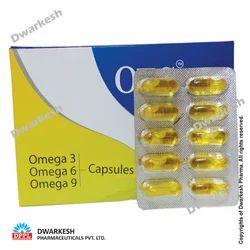 Soft Gel Capsules of Omega 3, 6, 9