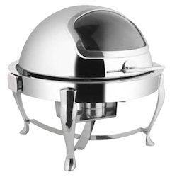 Roll Top Round Chafing Dish