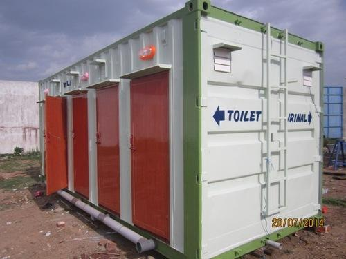 Mobile toilets mobile toilet blocks service provider - Shipping container public bathroom ...