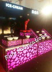 Acrylic Ice Cream Counter